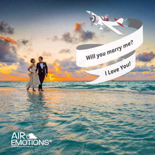 mensagem aerea manga publicitaria no Algarve